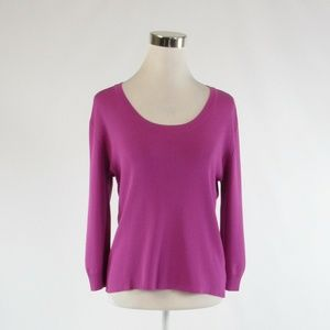 Orchid purple JOSEPH A. stretch knit blouse sizeXL
